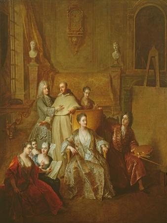 The Artist and His Family, C.1708