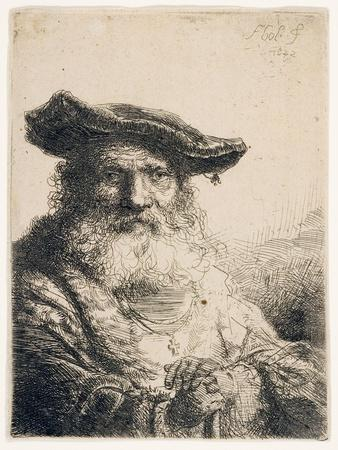 Old Man with Flowing Beard, 1642