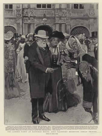 The Garden Party at Hatfield House, Lord Salisbury Receiving Indian Princes