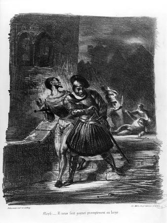 Mephistopheles and Faust Escaping after Valentine's Death