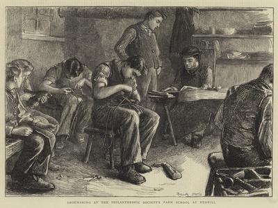 Shoemaking at the Philanthropic Society's Farm School at Redhill