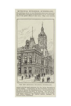 The New Municipal Buildings, Sunderland