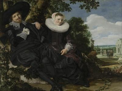 Portrait of a Couple, Probably Isaac Abrahamsz Massa and Beatrix Van Der Laen, C.1622