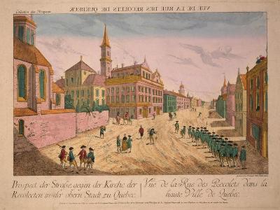 Vuë De La Rue Des Recolets De Quebec, Published C.1770S