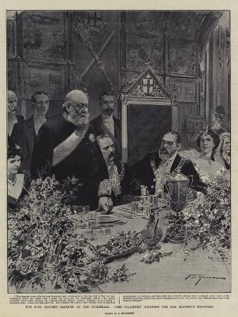 The Lord Mayor's Banquet at the Guildhall, Lord Salisbury Replying for Her Majesty's Ministers