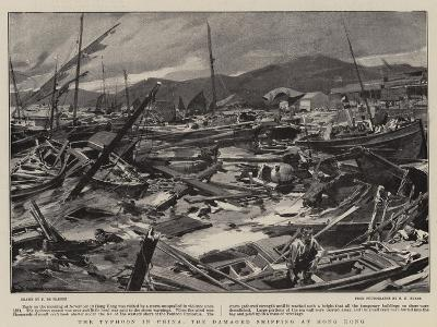 The Typhoon in China, the Damaged Shipping at Hong Kong