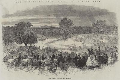 The Volunteer Sham Fight in Camden Park, Skirmishers Covering the Retreat