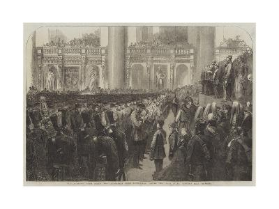 The Liverpool Press Guard (80th Lancashire Rifle Volunteers) Taking the Oaths in St George's Hall