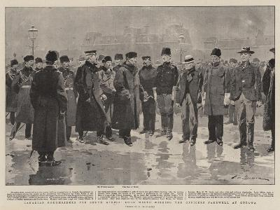 Canadian Roughriders for South Africa, Lord Minto Wishing the Officers Farewell at Ottawa