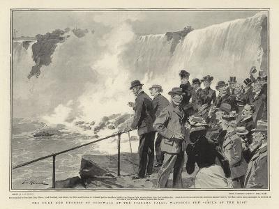 The Duke and Duchess of Cornwall at the Niagara Falls, Watching the Child of the Mist