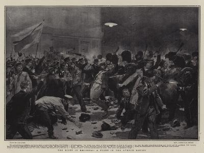 The Riots in Brussels, a Fight in the Avenue Louise