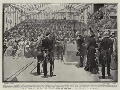 His Majesty Laying the Foundation Stone of the New Naval College at Devonport