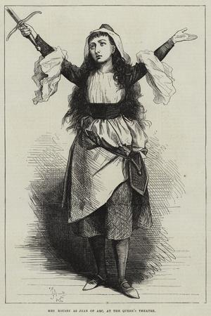 Mrs Rousby as Joan of Arc, at the Queen's Theatre
