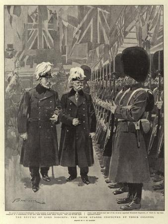 The Return of Lord Roberts, the Irish Guards Inspected by their Colonel