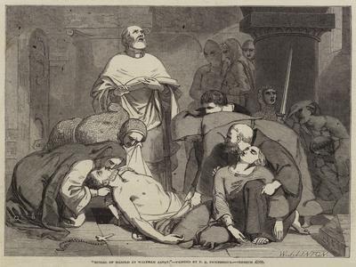 Burial of Harold at Waltham Abbey