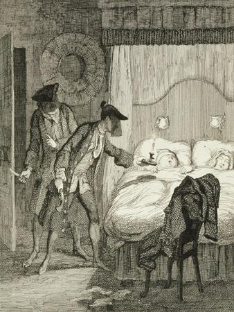 Jack and His Accomplice Blueskin Rob Mr Wood and His Wife in their Bedroom from 'Jack Sheppard: a R