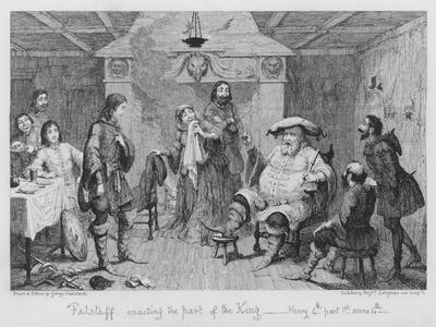 Falstaff Enacting the Part of the King