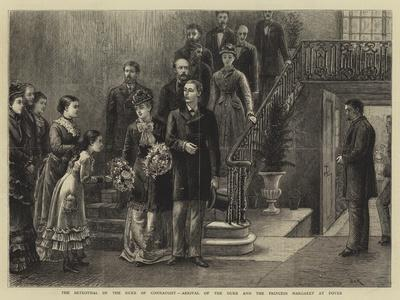 The Betrothal of the Duke of Connaught, Arrival of the Duke and the Princess Margaret at Dover