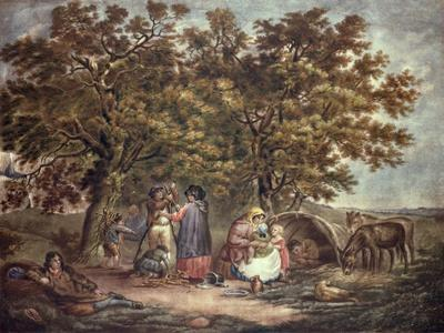 The Gipsies Tent, Engraved by Joseph Grozar
