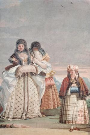 A Winter Stroll, from the 'Foresteria' (Guesthouse) 1757
