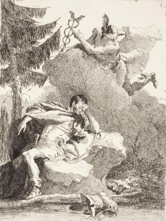 Mercury Appears to Æneas in a Dream, C.1770