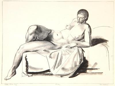 Nude Study, Classic on a Couch, 1923-24