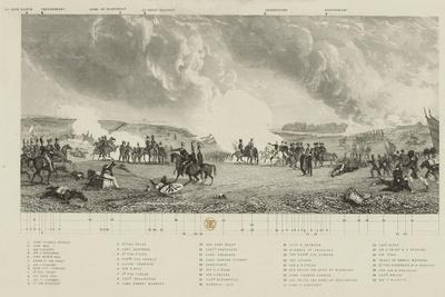 Key to 'The Battle of Waterloo, 1815', by J. T. Willmore, Published by J. Hogarth, 21 Mar 1849