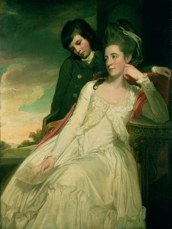 Jane, Duchess of Gordon and Her Son George, Marquess of Huntly, 1778