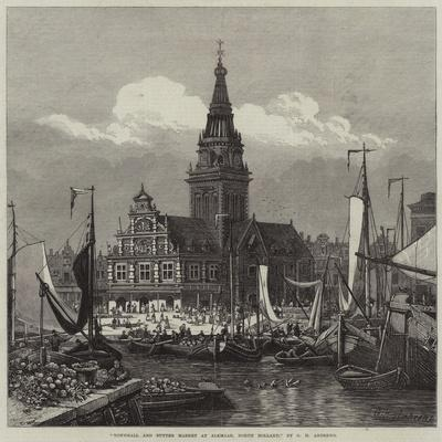 Townhall and Butter Market at Alkmaar, North Holland