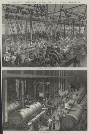 Stephenson's Locomotive Manufactory at Newcastle-On-Tyne