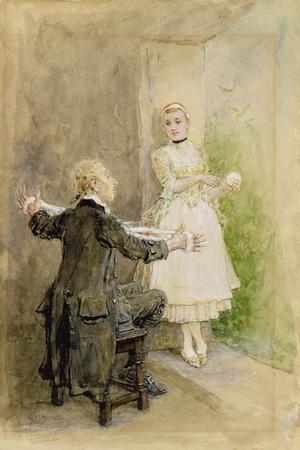 Ichabod Crane and Katrin Van Tassel, C.1893