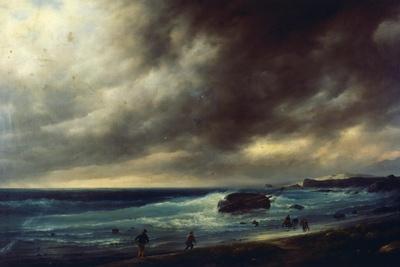 Storm on Scheveningen Beach, 1839