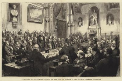 A Meeting of the Common Council of the City of London in the Council Chamber, Guildhall