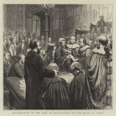 The Opening of Parliament, Introduction of the Earl of Beaconsfield to the House of Lords