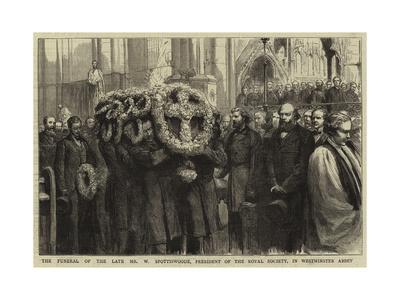 The Funeral of the Late Mr W Spottiswoode, President of the Royal Society, in Westminster Abbey