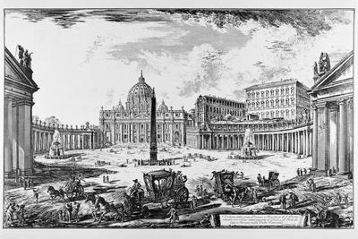 Rome, St. Peter's Square and St. Peter's Basilica, C.1747-78