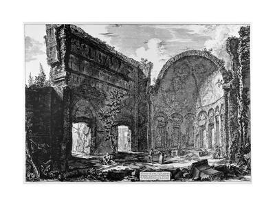 Tivoli, Hadrian's Villa, So-Called Hall of the Philosophers, C.1774-78