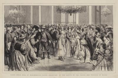 Fancy Dress Ball at Marlborough House, Reception of the Guests by the Prince and Princess of Wales