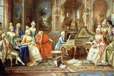 Young Mozart Giving a Recital