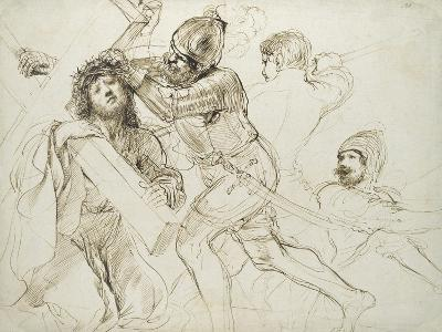 Christ Carrying the Cross, C.1625 - 1628 (Pen and Brown Ink on White Paper)