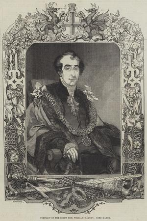 Portrait of the Right Honourable William Magnay, Lord Mayor