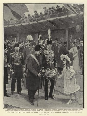 The Arrival of the Shah of Persia at Dover, Miss Foster Presenting a Bouquet