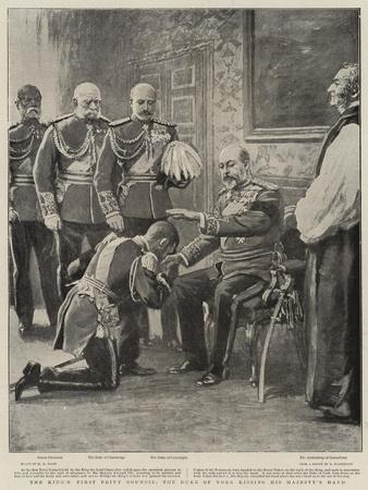 The King's First Privy Council, the Duke of York Kissing His Majesty's Hand