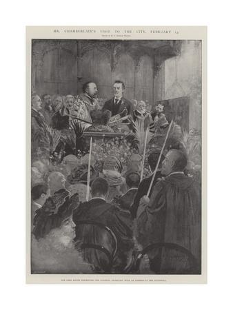 Mr Chamberlain's Visit to the City, 13 February