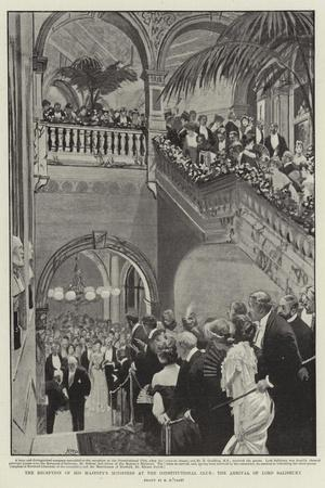 The Reception of His Majesty's Ministers at the Constitutional Club, the Arrival of Lord Salisbury