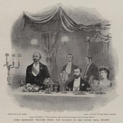 Lord Dufferin's Welcome Home, the Banquet in the Ulster Hall, Belfast