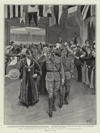 Lord Kitchener on His Way to His Carriage at Southampton