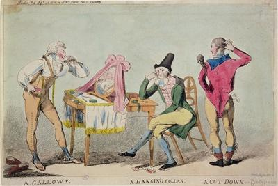 Cartoon of the French Aristocratic Emigres in England During the Revolution, 1791