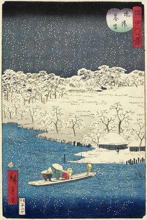 Evening Snow at Hashiba, November 1861