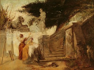 Washerwomen in a Garden, C.1756-61